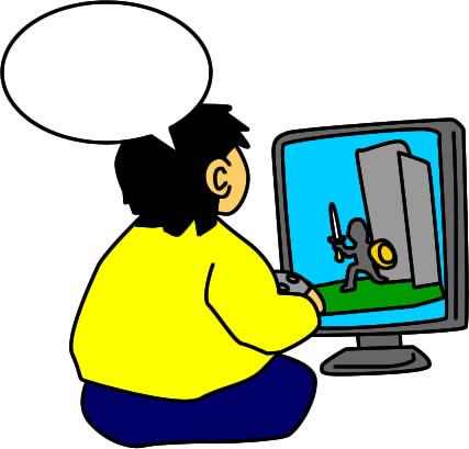 ゲームに熱中する男性のイラスト フリーイラスト素材 変な絵net
