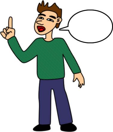 挑発的なしゃべり方の男性のイラスト フリーイラスト素材 変な絵net