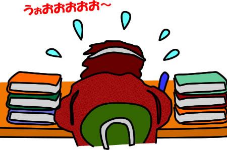 勉強する受験生のイラストです ...