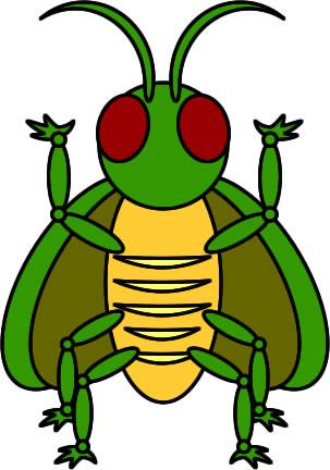 へんな昆虫のイラスト フリーイラスト素材 変な絵net