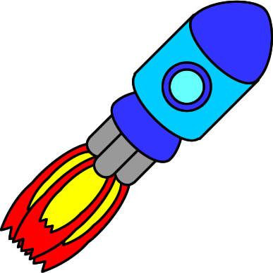 土星に向かうロケットのイラスト