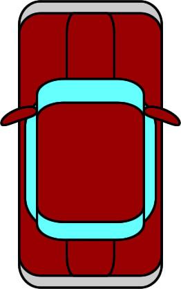 上から見た車のイラスト フリーイラスト素材 変な絵net
