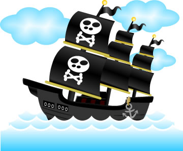 海賊船のイラスト フリーイラスト素材 変な絵net