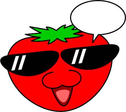 トマトのイラスト フリーイラスト素材 変な絵net