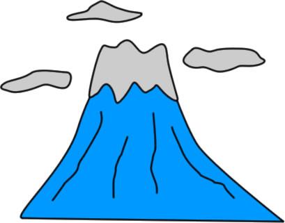 山のイラスト フリーイラスト素材 変な絵net