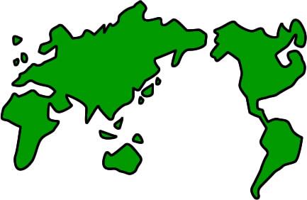 世界地図のイラスト フリーイラスト素材 変な絵net