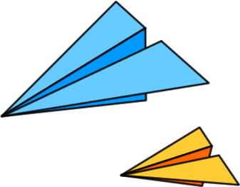 紙飛行機のイラスト フリーイラスト素材 変な絵net